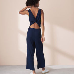 Ann Taylor LOFT Lou and Grey Twist Back Jumpsuit